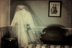 Gespenstischer Hochzeitsraum Stockbilder