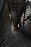Gespenstischer Korridor Stockfotos