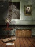 Gespenstischer Raum nachts Stockbilder
