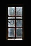 Gespenstisches gebrochenes Fenster Stockbilder