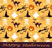 Gespenstisches Muster Halloweens Stockbilder