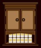 Gespenstisches Nachtzeit-Kabinett Stockfotos