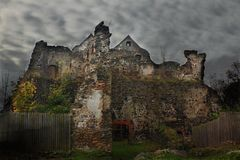 Gespenstisches Schloss Stockfoto