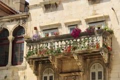 Gespleten balkon Royalty-vrije Stock Foto's