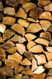 Gespleten brandhoutlogboeken Stock Foto