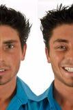 Gespleten gezicht Stock Afbeelding