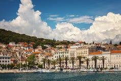 Gespleten haven Kroatië Stock Afbeeldingen
