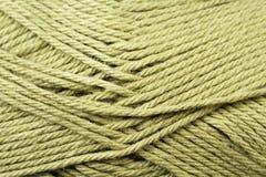Gespleten Pea Green Yarn Texture Close omhoog Royalty-vrije Stock Afbeeldingen