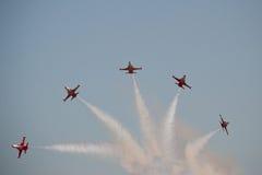 Gespleten vliegtuigen Royalty-vrije Stock Afbeelding