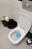 Gespoeld toilet Stock Foto
