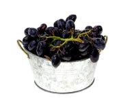 Gespoelde Zwarte Druiven stock afbeeldingen