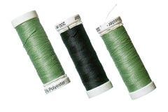 Gesponnen polyester naaiende draad Stock Foto's
