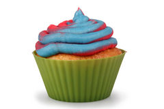 Gesponnen suiker Cupcake Royalty-vrije Stock Afbeeldingen