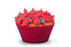 Gesponnen suiker Cupcake Stock Afbeeldingen
