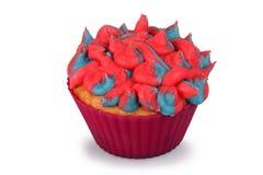 Gesponnen suiker Cupcake Royalty-vrije Stock Foto's