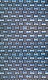Gesponnene Aluminiumtapete Stockbilder