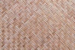 Gesponnene Bambusbeschaffenheit und Hintergrund Lizenzfreies Stockfoto