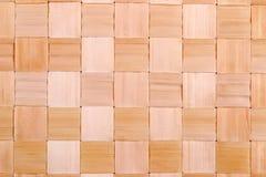 Gesponnene Palmblattmattenbeschaffenheit für Hintergrund Stockfoto