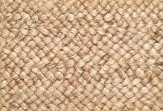 Gesponnener Sisals-u. Wollwolldecken-Hintergrund Stockbild