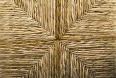 Gesponnener Weidenkorb-Stuhl lizenzfreies stockbild