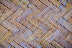 Gesponnenes Bambusmuster für Hintergrund Hölzerne BambusGewebebeschaffenheit des Handwerks Alte spinnende Musterbambusbeschaffenh Lizenzfreie Stockbilder