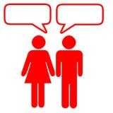 Gespräch lizenzfreie abbildung