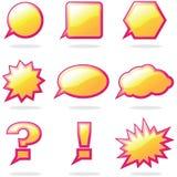 Gesprächs-Ballon Lizenzfreie Stockbilder