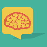 Gesprächs-Blasen-Gehirn Lizenzfreie Stockfotos