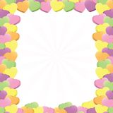 Gesprächs-Herz-Rand Stockbild