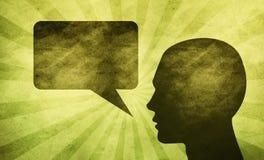 Gesprächs-Luftblase Grunge Lizenzfreies Stockfoto