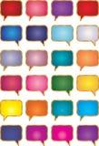 Gesprächs-Luftblasen Lizenzfreie Stockfotografie