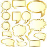 Gesprächs- oder Gedankenluftblasenaufkleber Stockbilder