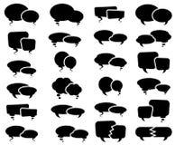 Gesprächs-Sprache-Blasen-Schattenbilder Lizenzfreie Stockfotografie