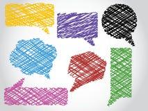 Gesprächsblasen Stockbild
