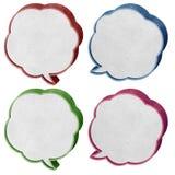 Gesprächskasten3d aufbereitete Papierfertigkeit Lizenzfreie Stockbilder