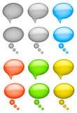 Gesprächsluftblasen Stockfoto