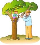 Gesprek bij de boom vector illustratie