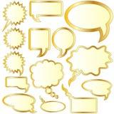 Gesprek of gedachte bellenstickers Stock Afbeeldingen