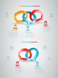 Gesprek Infographics Stock Fotografie