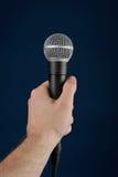 Gesprek met microfoon Stock Afbeeldingen