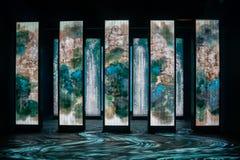 Gesprek van het Ontdekkingspaviljoen van Taichung-Wereld Flora Exposition royalty-vrije stock afbeeldingen