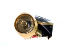 Gesprengter Kanister nach Bier Lizenzfreie Stockfotos