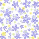 Gesprenkelter malvenfarbener und gelber Gänseblümchenpastellhintergrund Stockfotos
