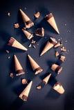 Gespritzte Eiscreme Stockbild