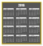 Gesso del calendario 2016 su una lavagna con il nuovo anno dell'ombra Illustrazione di Stock