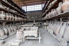 Gesso di un driver della biga di Pompei che è morto durante l'eruzione del Mt vesuvius immagine stock libera da diritti