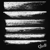 Gesso e carbone Un insieme delle pennellate di vettore Vernici i punti Struttura di Grunge Un'alta risoluzione royalty illustrazione gratis