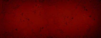 Gesso incrinato del fondo strutturato astratto rosso scuro Parete incrinata della pittura rossa di struttura Rosso Valenti di str immagini stock