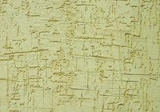 Gesso ruvido verde chiaro sul primo piano della parete Fotografia Stock