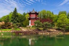 Gestão chinesa dos jardins no jardim botânico de Montreal imagens de stock royalty free